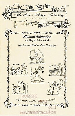 M1287 Raggedy Ann for Kitchen towel DOW Embroidery transfer pattern Hot Iron on