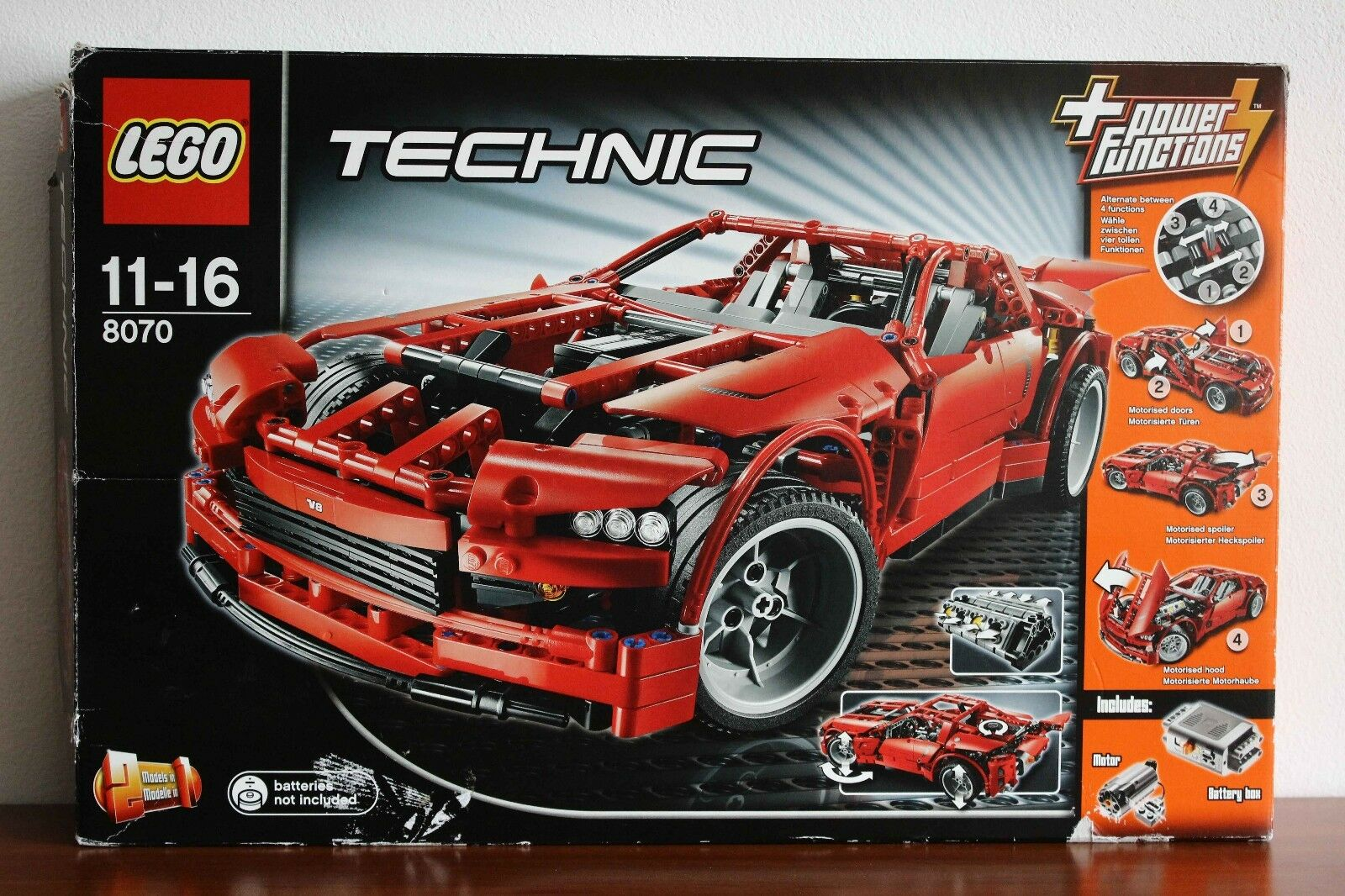 Lego Technic Model Traffic Set 8070-1 Supercar 100% complete +instructions +box