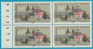 Bund-aus-1986-postfrisch-MiNr-1280-Viererblock-mit-Bogenzaehler-Walsrode