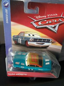 NEW Disney Pixar Cars   MARIO ANDRETTI  Dinoco 400