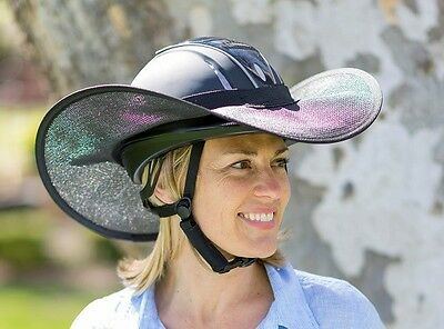 """HORSE RIDING HELMET BRIM SHADE """"NEW """" ONE SIZE FIT EXTRA LARGE IN ALL BLACK"""
