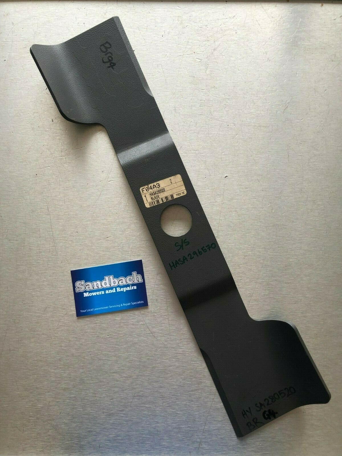 Hayter Genuino Metal cutterbar Hasa 280520 reemplaza a Hasa 296570