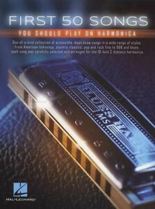First-50-Songs-You-Should-Play-on-Harmonica-Sheet-Music-Book-Pop-Rock-R-amp-B-Blues