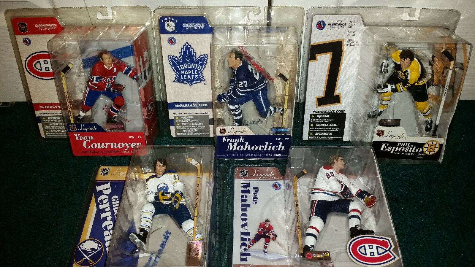 Nhl - legende mcfarlane gilbert perreault pete mahovlich phil esposito cournoyer