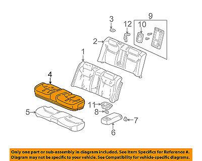 Rear Honda Genuine 82131-SH0-A11ZB Seat Cushion Trim Cover