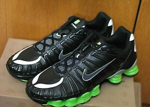 New 2011 NIKE SHOX TLX Men s Shoe BLACK GREEN SILVER 488313 030 NEW ... 95a8520c5