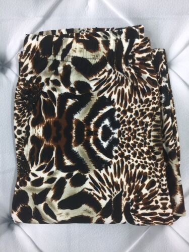 NWT Animal Print Leggings Buttery Soft One Size OS 2-10 Brown Pants S M L