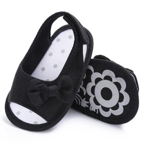 Neugeborenes Kleines Mädchen Kleinkind Schleife Weich Wiege Sandalen Rutschfeste