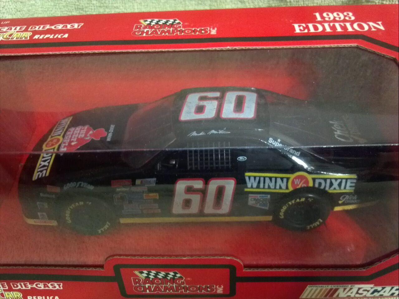 1993 Racing Champions MARK MARTIN  60 60 60 Winn-Dixie Nascar 1/24 Diecast - Nuovo 485477