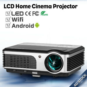 1080p-LED-Projectors-Android-Wif-Online-Home-Cinema-Movie-USB-HDMI-VGA-AU-Stock
