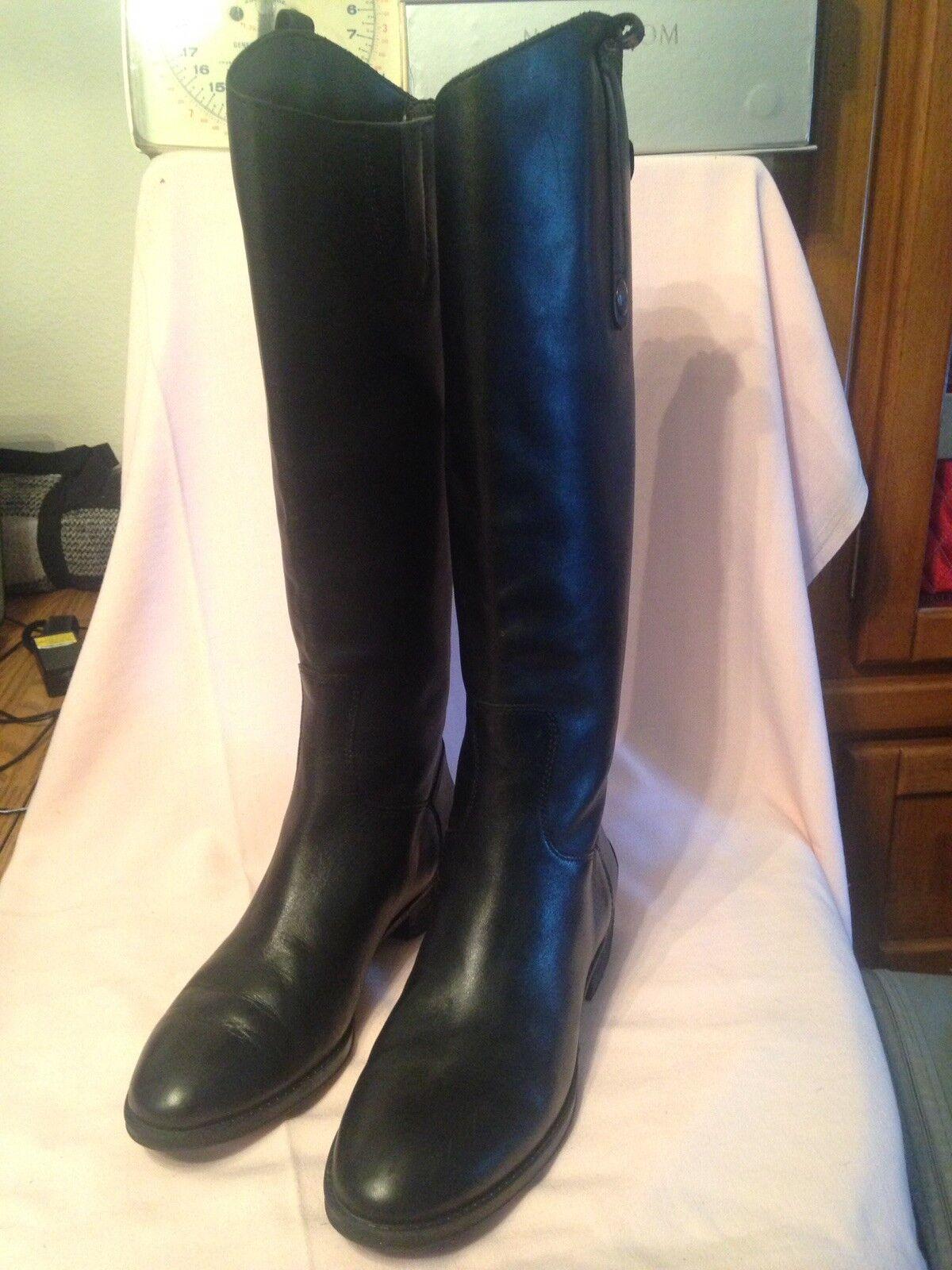 Sam Edelman Edelman Edelman Nice Riding Boots In Black 7.5 aa0c3c