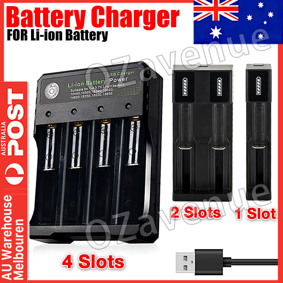 1/2/4 Slot Smart Intelligent Battery Charger USB For AA AAA C D Rechargeable Bat