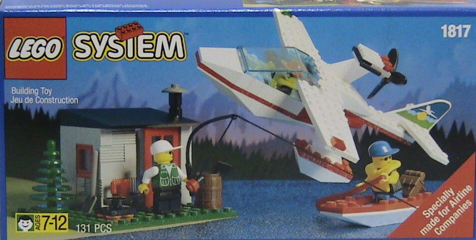 Lego Town Classic Town 1817 Sea Plane with Hut and Boat New Sealed