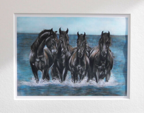 The Sea Horses Limited Edition artist print seascape direct from art studio