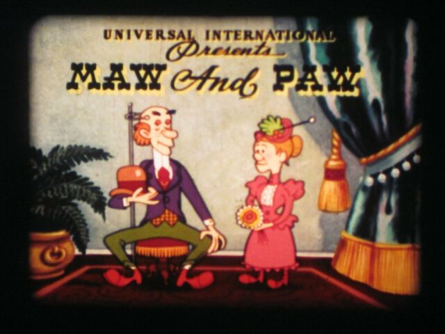 16 mm Sound Film 1953 Technicolor Maw and Paw / Milford