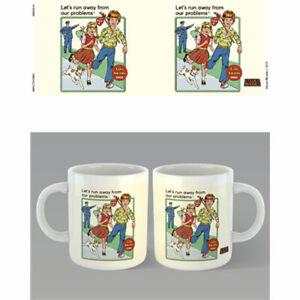 Steven-Rhodes-Let-039-s-Run-Away-Mug-x-2-BRAND-NEW-Set-of-2-Mugs