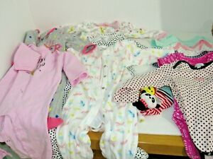 89c3704e1 LOT CARTERS INFANT BABY GIRL SLEEPERS   ONE PIECE 6-9 MONTH 6-9M