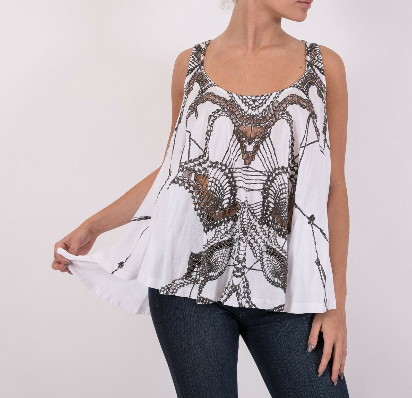 Sass & Bide  MAGNIFY ME  tank top flarot in Ivory