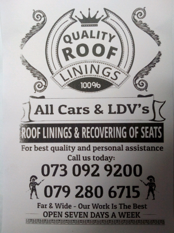 Vw polo, golf, jetta, opel, bmw, audi, all car roof lining repairs