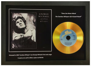 GEORGE MICHAEL 'CARELESS WHISPER' SIGNED GOLD DISC COLLECTABLE MEMORABILIA GIFT