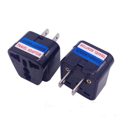 Universal EU UK AU to US USA AC Travel Power Plug Adapter Outlet Converter