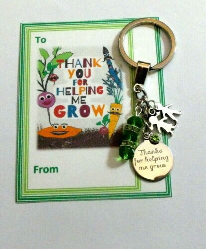 Thank you gifts Teacher End of Term General Key Ring Gift Card//Design choice