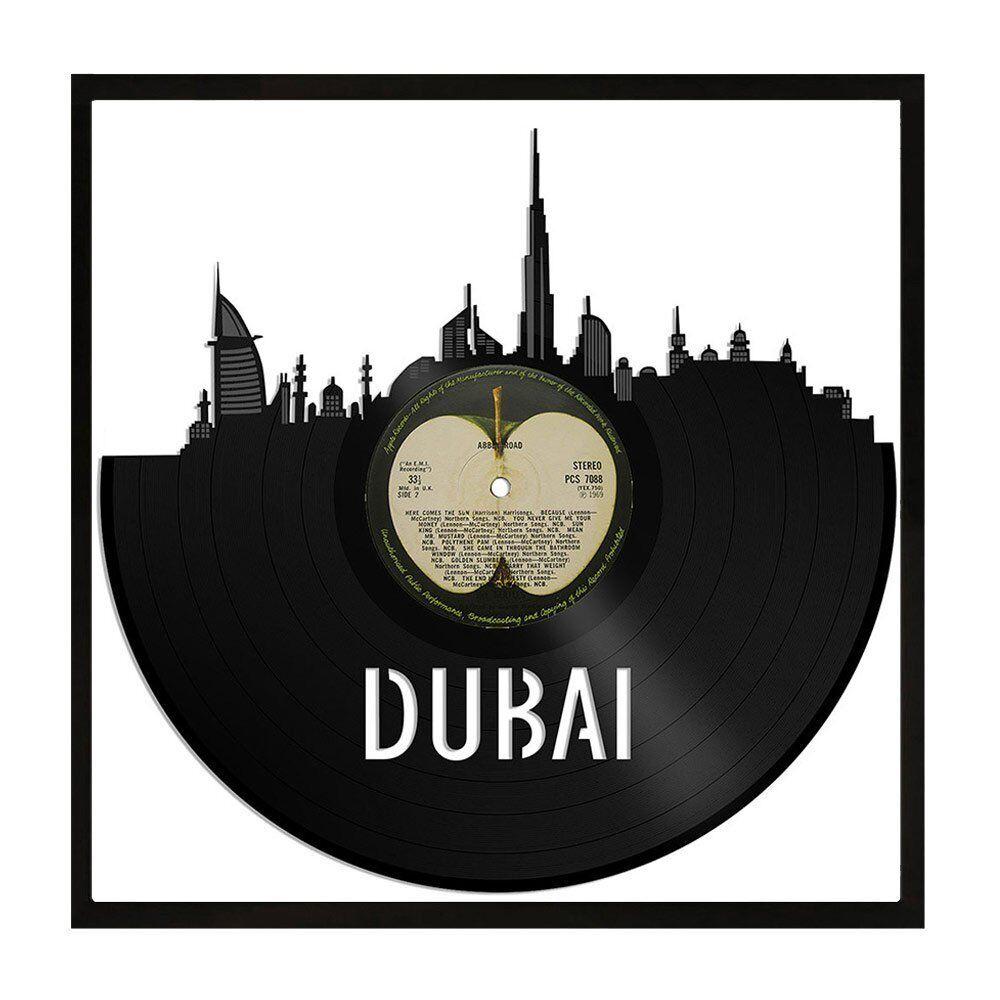 Dubai Vinyl wand kunst City Skyline Travel Souvenir zuhause zimmer Office Decor Framed