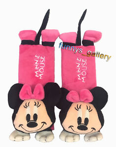 Minnie Mouse Baby Car Shoulder Pad Kids Car Seat Belt Cover eBay