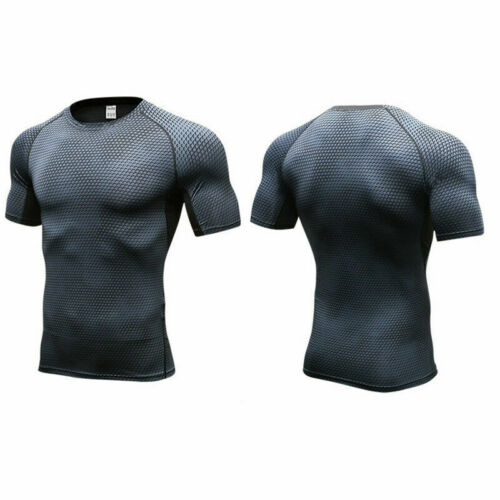 Mens Compression Athletic Base Layers Gym Running Tights Shorts Moisture Wicking