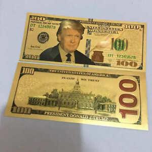 10Pcs-President-Donald-Trump-Colorized-100-Dollar-Bill-Gold-Foil-Banknote-US