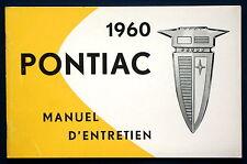 Owner's Manual * Betriebsanleitung 1960 Pontiac (F)