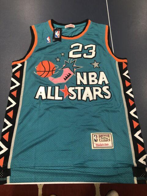 Michael Jordan Nba All Star Jersey NBA Size XL Teal Stitched