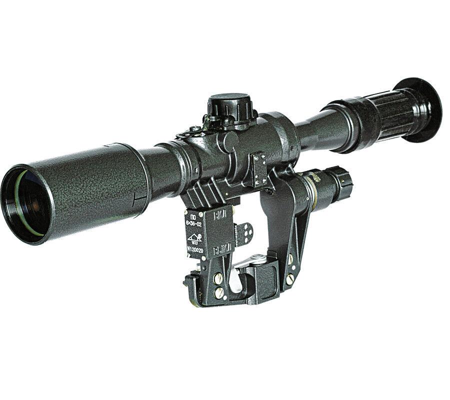 Alcance francotirador pos 6 X 36 con Placa Lateral Para Montaje