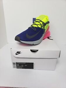 680d08eb92a33 Men s Nike Air Max 270 Flyknit AO1023-501 Size 11 Neon Yellow Blue ...
