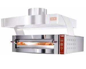 Ø 35 Cm Pizzen Digital Billigverkauf 50% Profi Elektro Pizzaofen Breit Flammkuchenofen Für 6 X