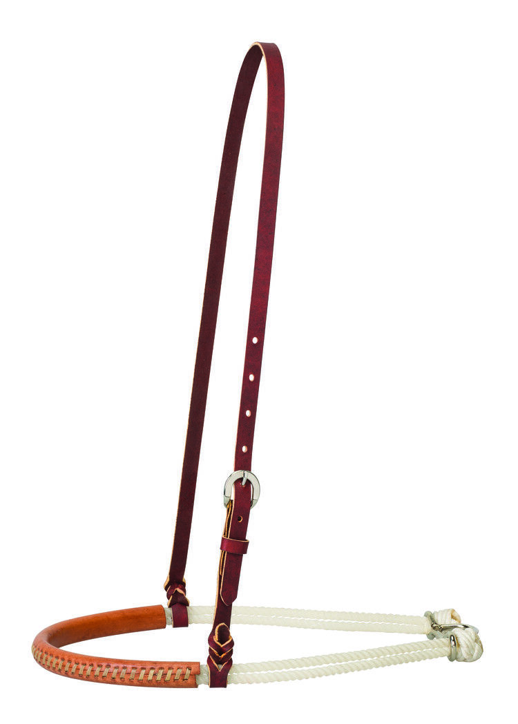 Weaver Leather Leather Covered Double 1 4  Rope Noseband, 30-0145