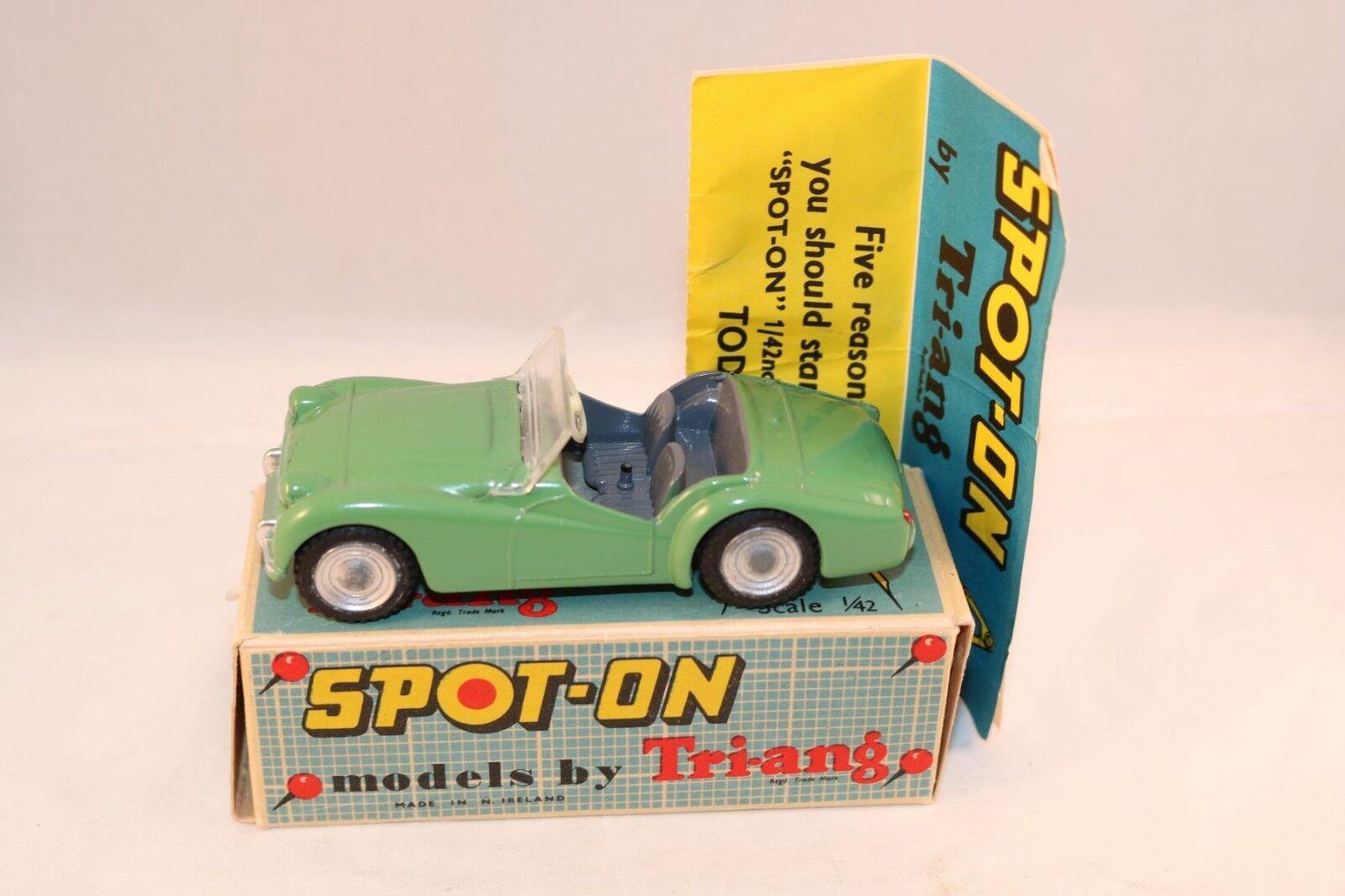 hasta un 50% de descuento Spot-on Spot-on Spot-on Spoton Triang No 108 Triumph  T.R.3  verde perfect mint in box súperb  suministramos lo mejor