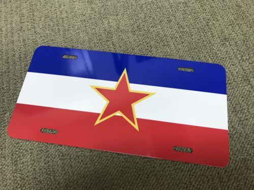 SFRJ YUGOSLAVIA JUGOSLAVIJA display  Flag license plate tag retro