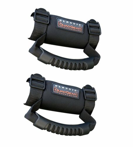 UTV Roll Bar Cages Hand Grab Bar Over Head Handle Grips Safety Straps Pair Black
