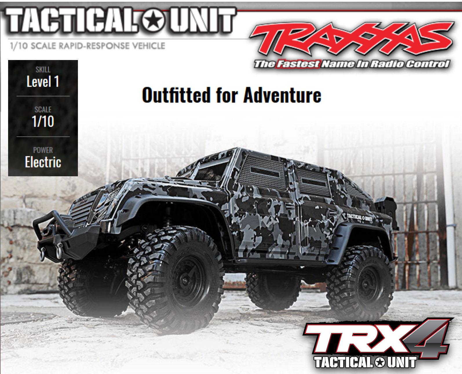 nuovo di marca TRAXXAS TRAXXAS TRAXXAS   trx82066-4 trx-4 Tactical Military guarda 1-10 Crawler 2,4 GHz  vendita online risparmia il 70%