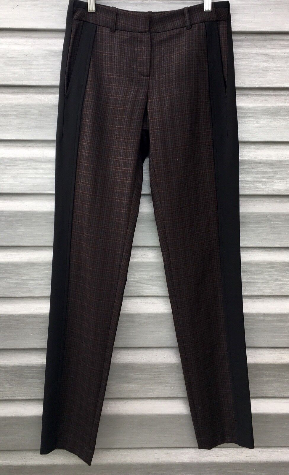 L.A.M.B. Plaid Tuxedo Wool Trouser Pants