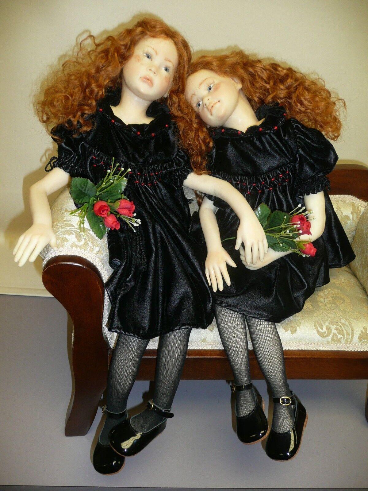 OOAK..  hermanas retrato  por Annalisa Venturini, arcilla polimérica esculpido