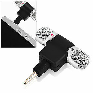 2017 Mini Microphone Stereo Audio Sound Recorder With 3 5mm Jack For Smart Phone