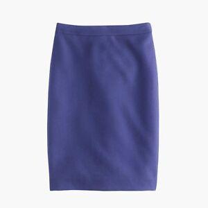 000049197f05 NWT J CREW No 2 Pencil Skirt Double Serge size P6 P8   eBay