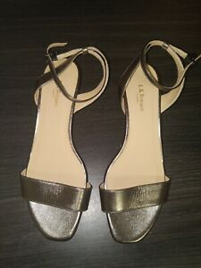 L-K-bennett-London-Sandal-Heel-Shoes-Gold-With-Olive-Tint-New-37