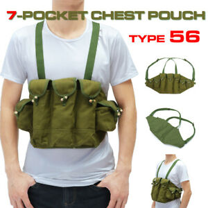 Vietnam-War-US-Army-Type-56-Chest-Rig-Ammo-Bandolier-Pouch-Tactical-Bag