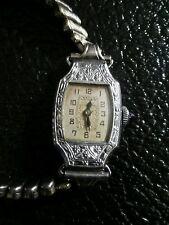 1920's Bulova watch vintage antique silver ornate watch works 14 kt gf