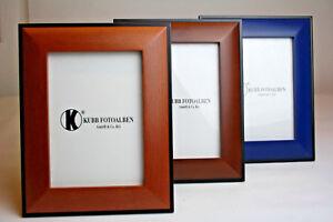 Fotorahmen-13x18cm-Bilderrahmen-Schwarz-Blau-Rosenholz-Walnuss-stehend-Holz
