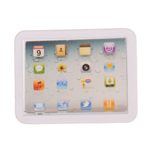 1:12 laptop computer pad toy Dollhouse Miniature Toy Kitchen room Decoration UK