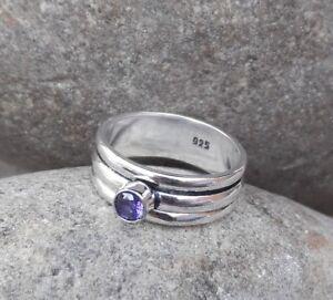 Amethyst-Solid-925-Sterling-Silver-Spinner-Ring-Meditation-statement-Ring-SR305
